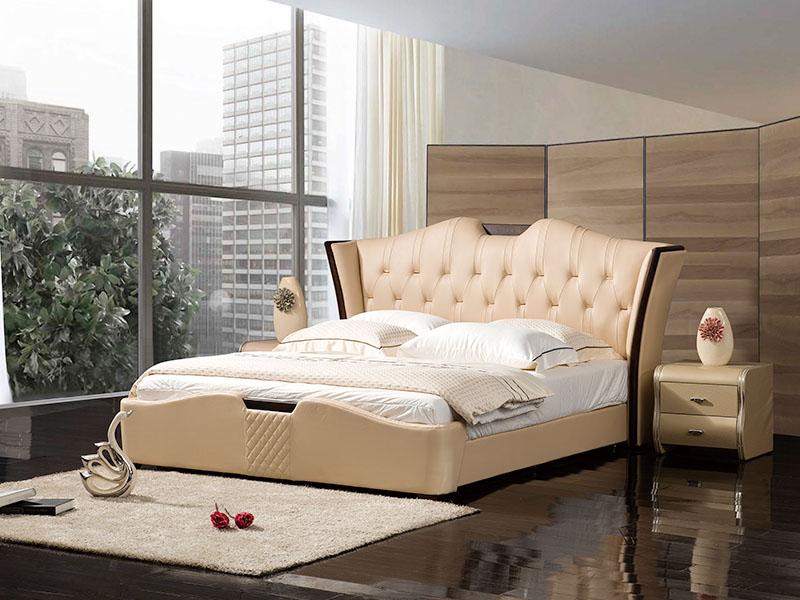 软体家具-真皮软床3