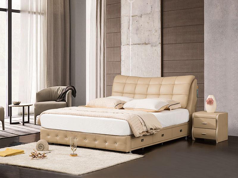 软体家具-真皮软床1
