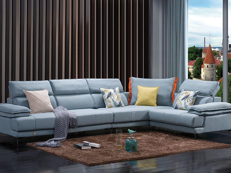 软体家具-休闲布艺沙发1