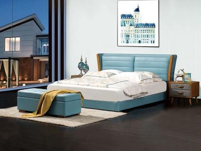 软体家具-真皮软床4
